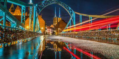 夜のトゥムスキ橋 ヴロツワフ