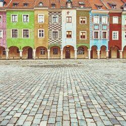 ポーランドの町並み ポズナンの旧市街広場