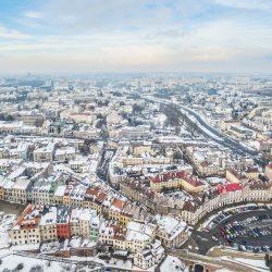 ルブリンの冬の風景 ポーランドの風景