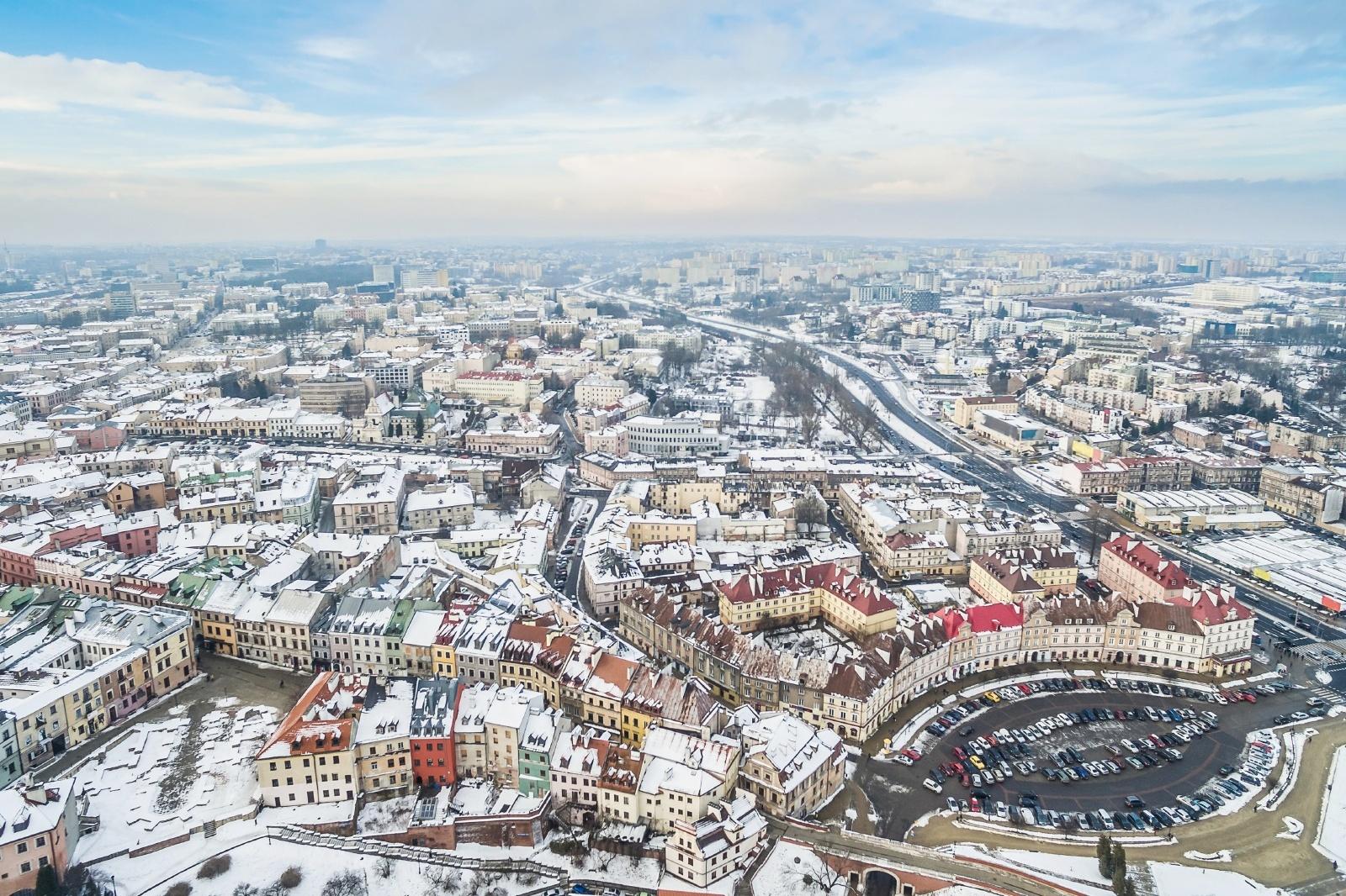 ルブリンの冬の風景