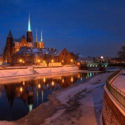 冬の夜のヴロツワフ