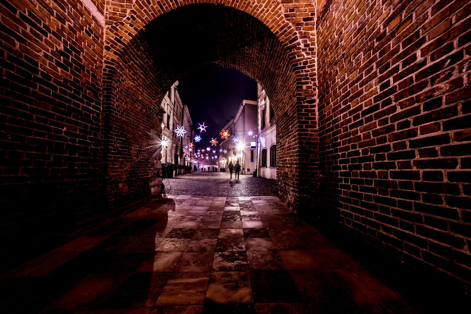 夜のルブリン 旧市街の風景